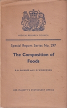 The Composition of Foods (SRS No 297). R. A. McCance, E. M. Widdowson