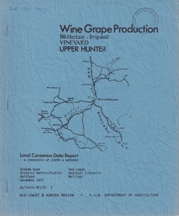 Wine Grape Production Upper Hunter. Graham Kaye, Rod Logan