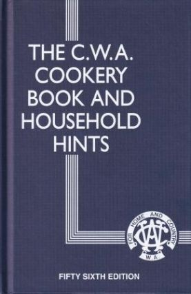 The CWA Cookery Book. The CWA of WA
